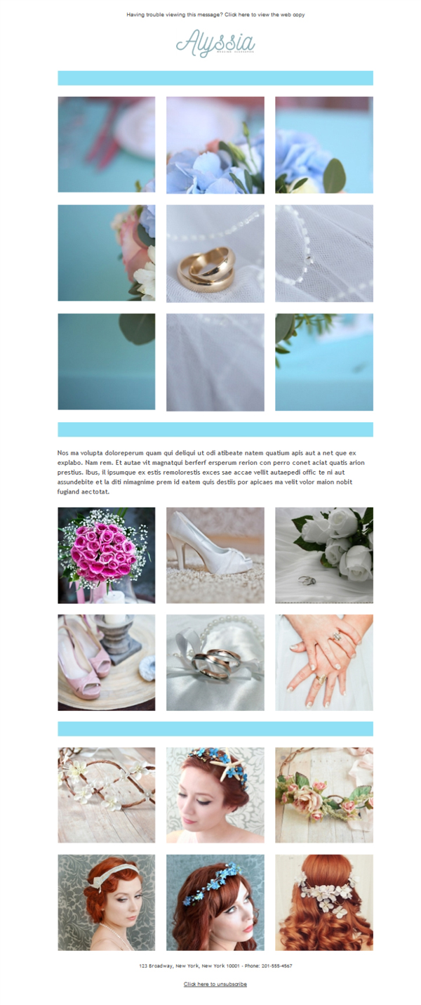 Templates Emailing Wedding Store Sarbacane