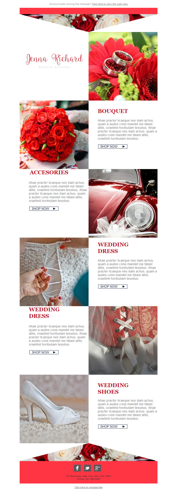 Free email templates download design wedding boutique for Bridesmaid newsletter template