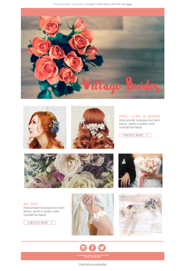 Free email templates download design wedding village brides for Bridesmaid newsletter template