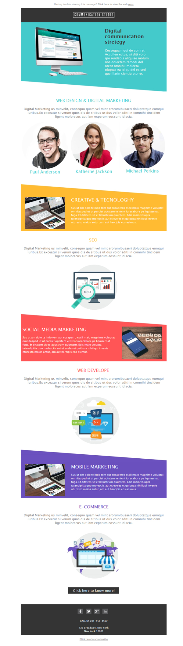 Templates Emailing Web Marketing Studio Sarbacane