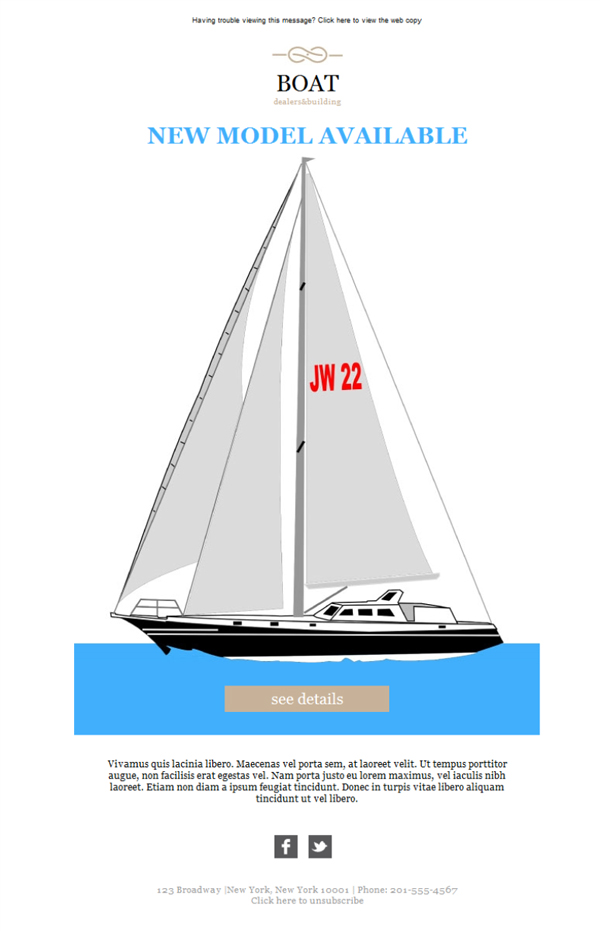 Templates Emailing Boat Dealer And Builder Sarbacane