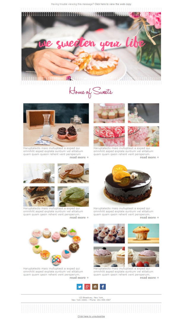 Templates Emailing Bakery Home Of Sweets Sarbacane
