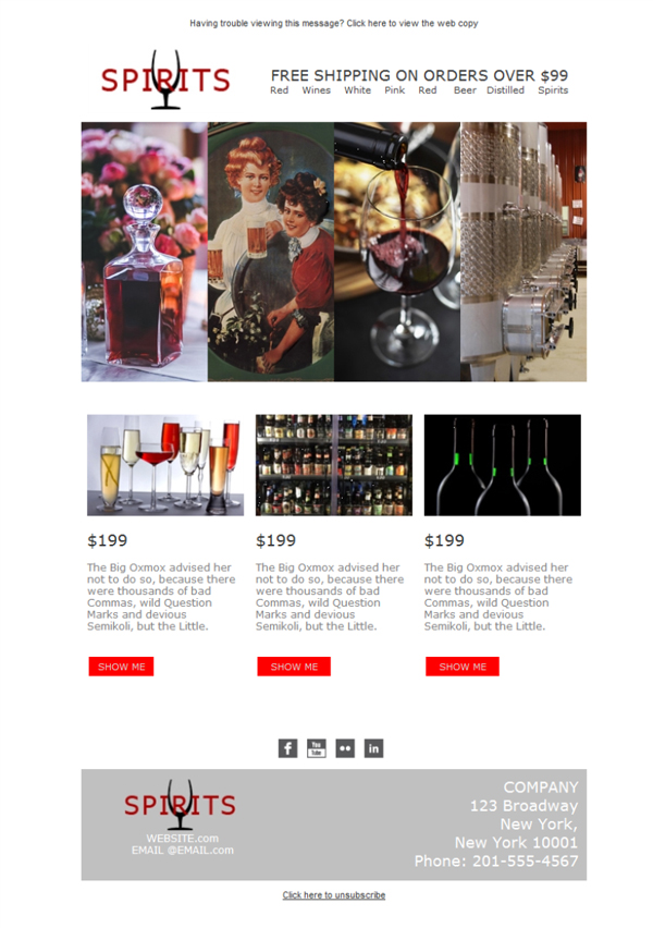 Templates Emailing Spirits Wholesale Liquor Sarbacane