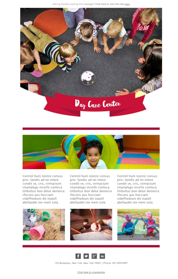 Templates Emailing Daycare Center Sarbacane