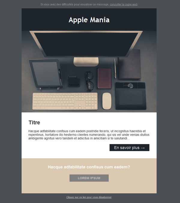 Templates Emailing Apple Mania Sarbacane