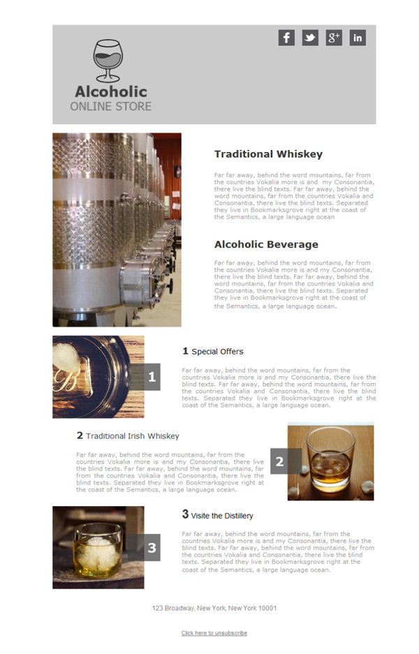 Templates Emailing Distillery Company Sarbacane
