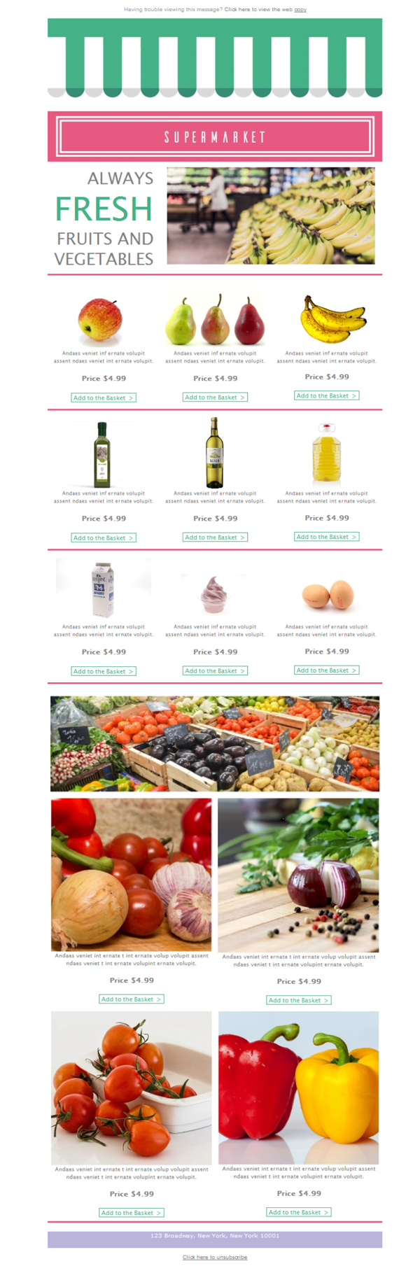 Free newsletter template grocerysupermarketstore – Grocery Templates