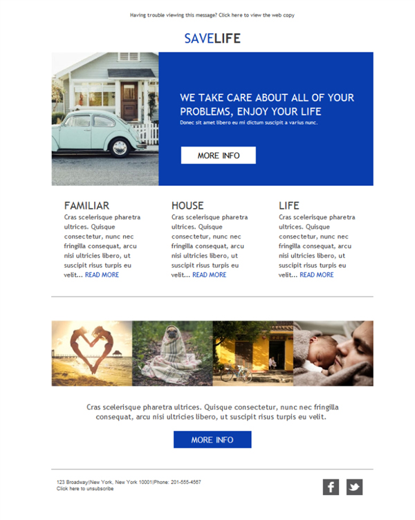 Templates Emailing Insurance Agency Care Sarbacane