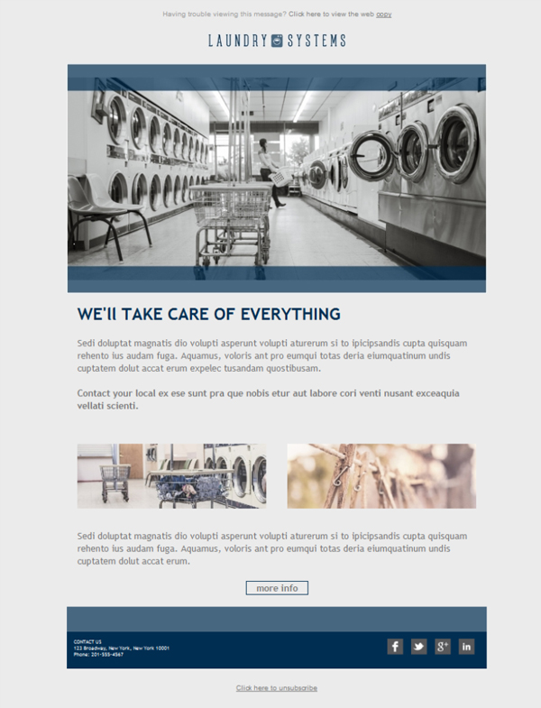 Templates Emailing Laundry Dry Cleaning Co Sarbacane