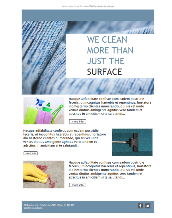 Templates Emailing Janitorial Cleaning Service Sarbacane