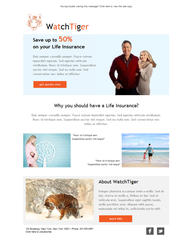 pet insurance email template  Free email templates - Download design Life Insurance Familiy