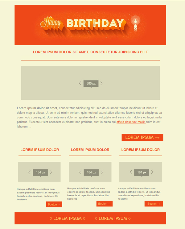 Templates Emailing Happy Birthday Sarbacane