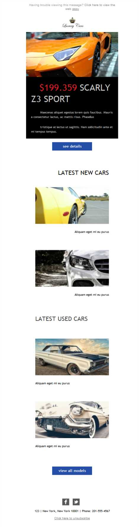 email templates for car sales