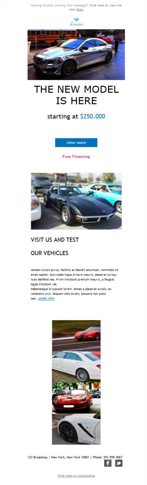 Templates Emailing Automobile Luxury Cars Sarbacane