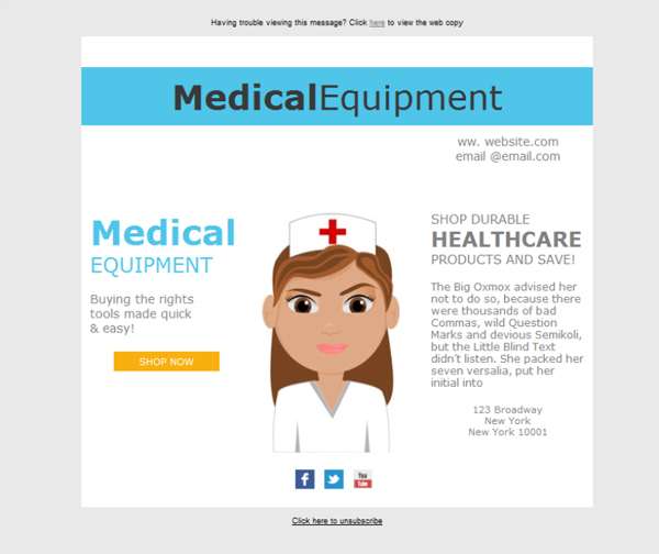 Templates Emailing Medical Wholesale Sales Sarbacane