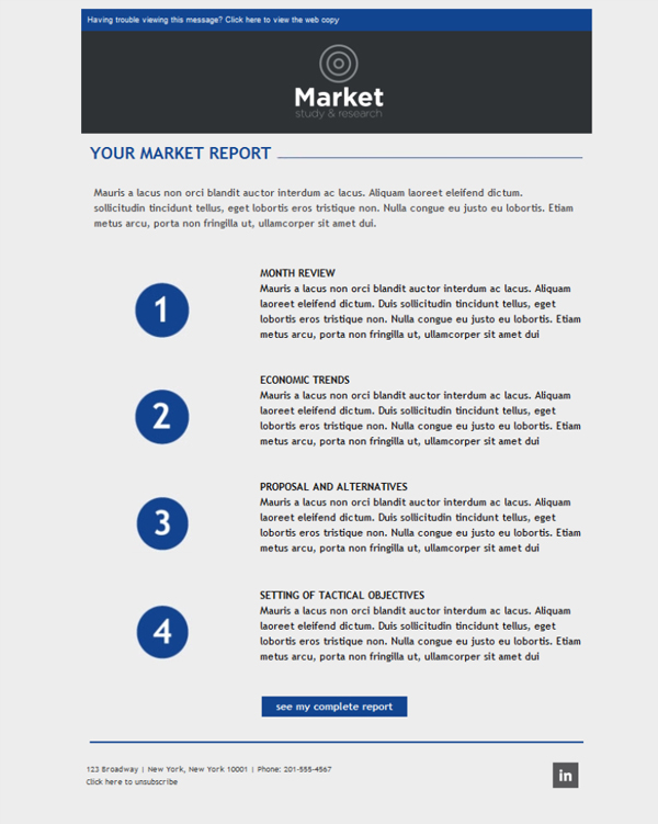 Templates Emailing Market Research Study Sarbacane