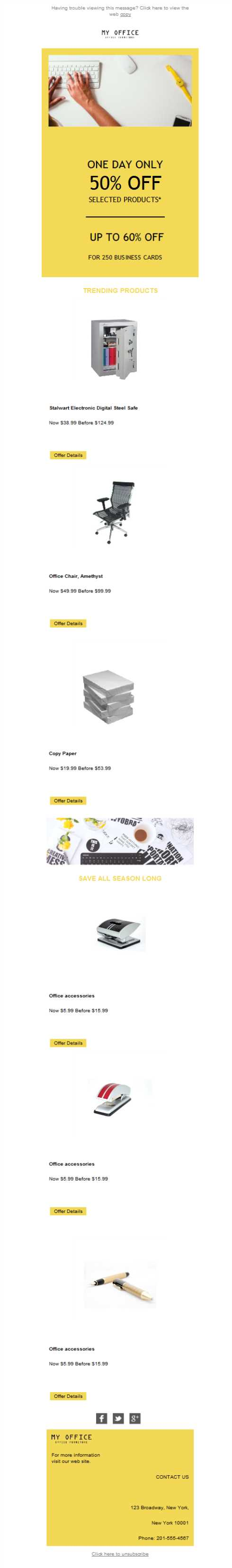Templates Emailing Office Equipment Sales Sarbacane