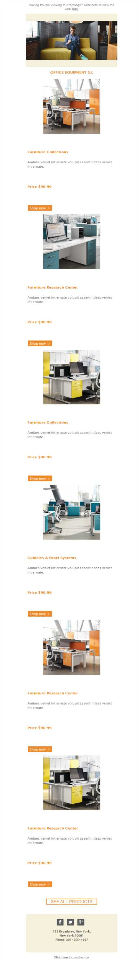 Templates Emailing Office Equipment Furniture Sarbacane