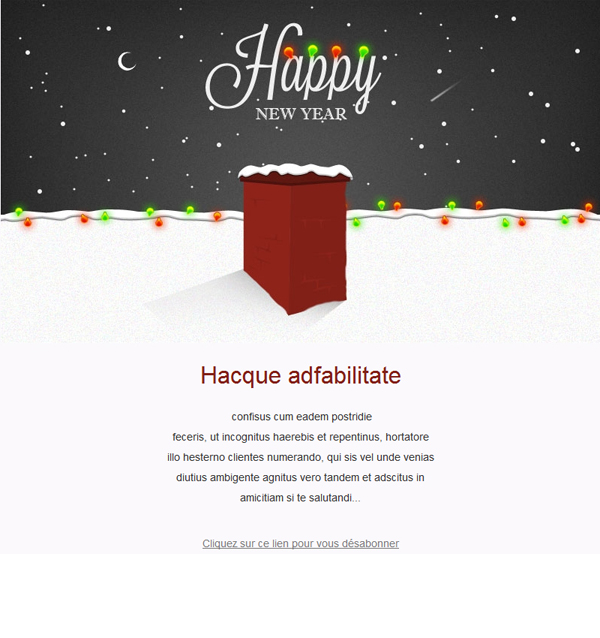 Free Newsletter Template HappyNewYear