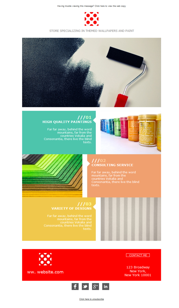 Templates Emailing Paint Wallpaper Colors Sarbacane
