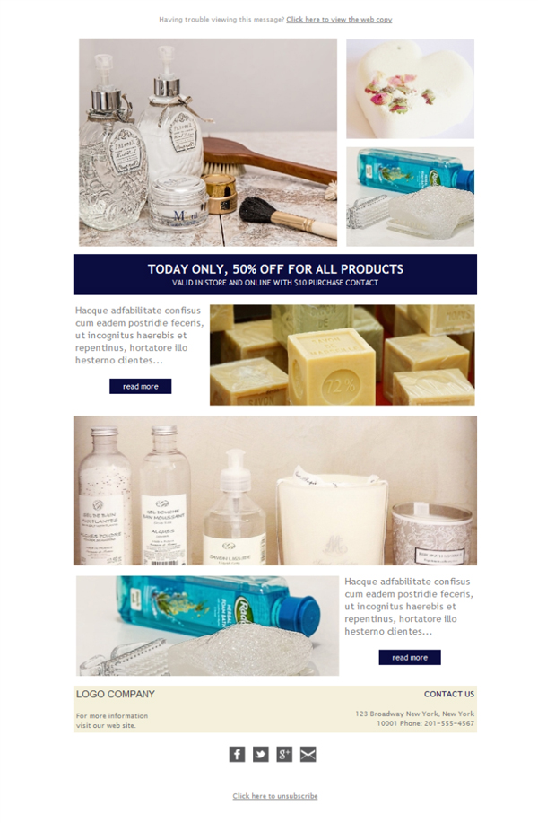 Templates Emailing Personal Care Beauty Sarbacane
