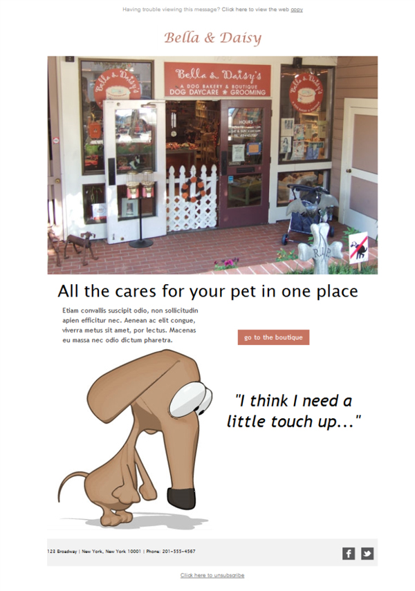 Templates Emailing Pet Grooming Sarbacane