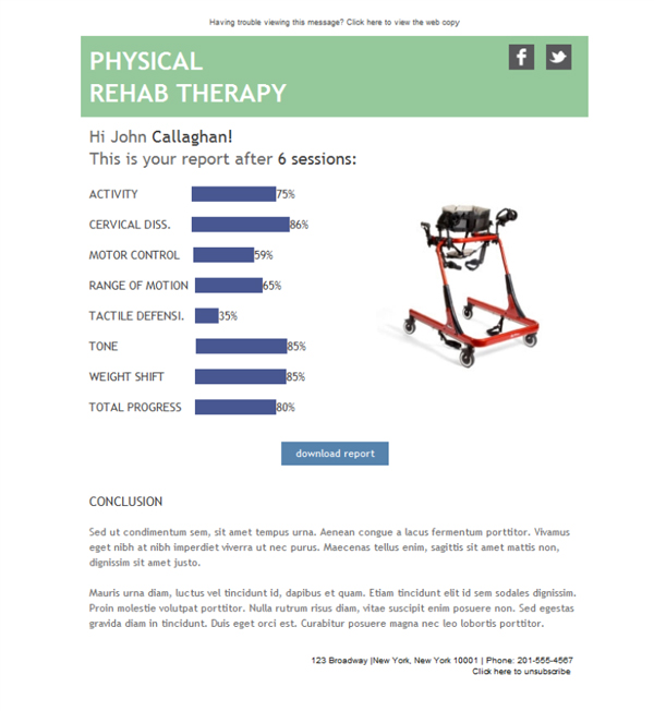 Templates Emailing Rehab Physical Therapy Sarbacane