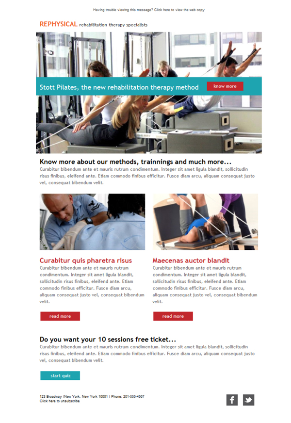 Templates Emailing Rehab Physical Therapist Sarbacane