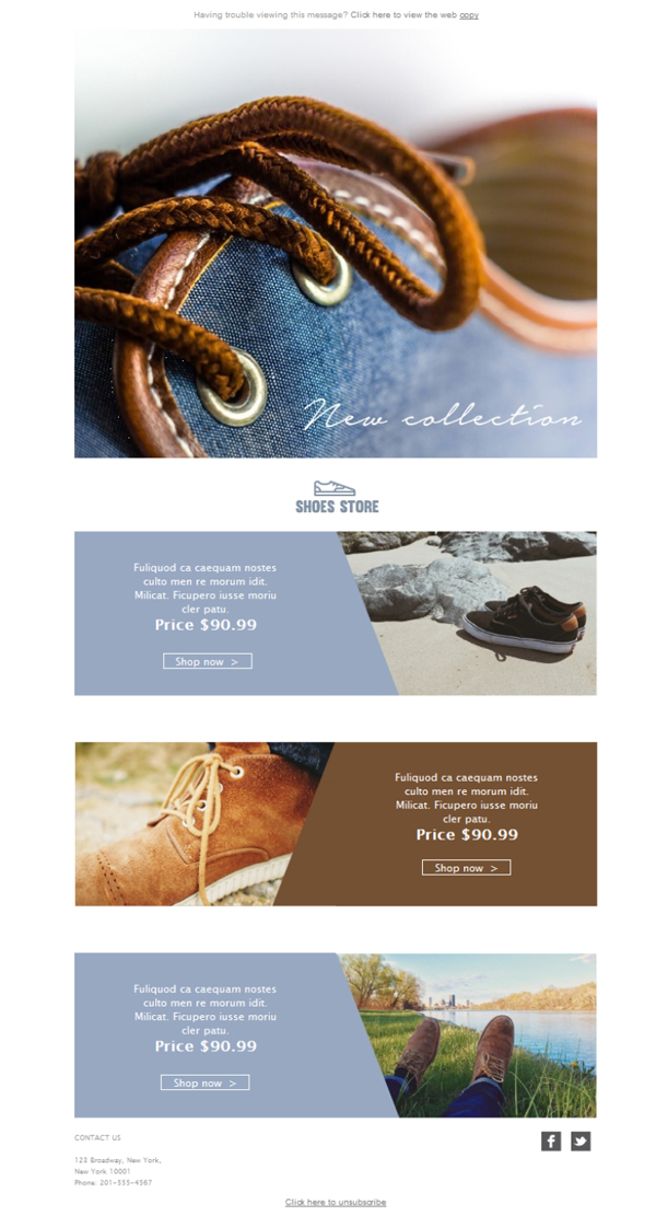 Templates Emailing Shoe Stores New Sale Sarbacane