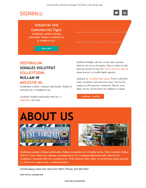 Templates Emailing Sign Industrial Sales Sarbacane