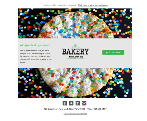 Templates Emailing Specialty Food Bakery Sarbacane