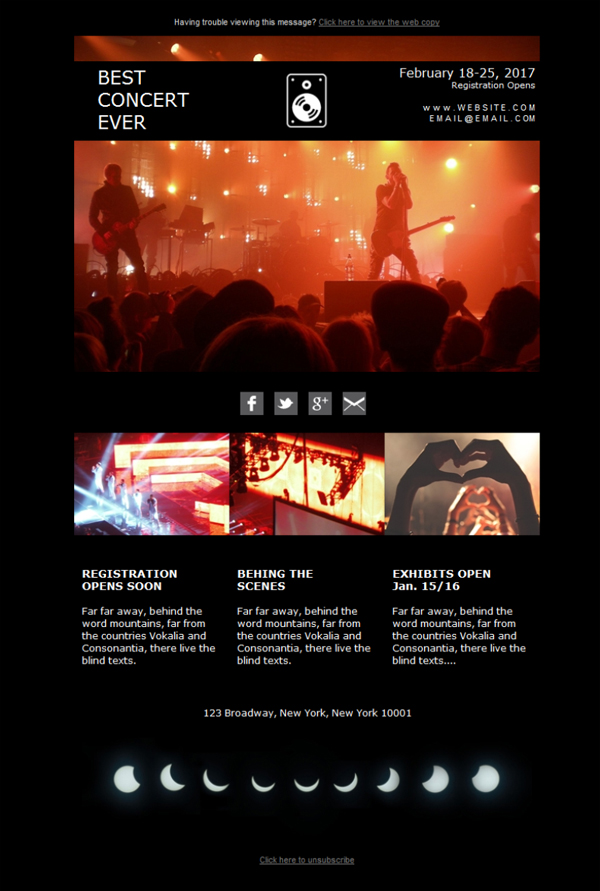 Templates Emailing Events Concert Sarbacane