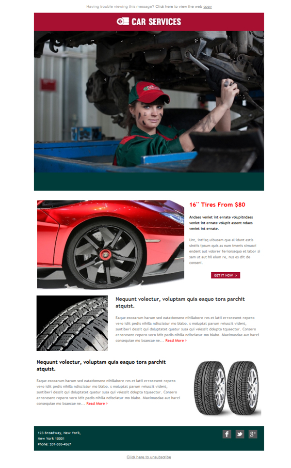 Templates Emailing Tire Dealers Auto Sarbacane