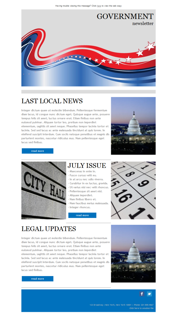 Templates Emailing Government Newsletter Sarbacane