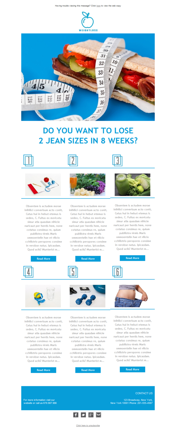 Templates Emailing Weight Loss Fruit  Sarbacane