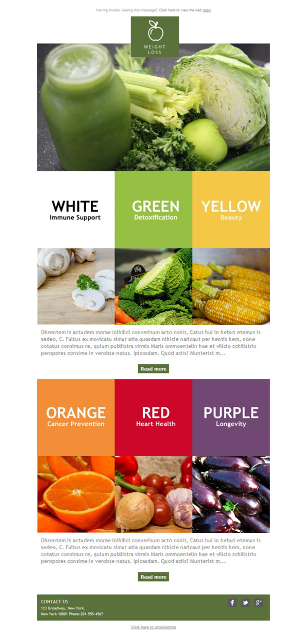 Templates Emailing Weight Loss Colors Sarbacane