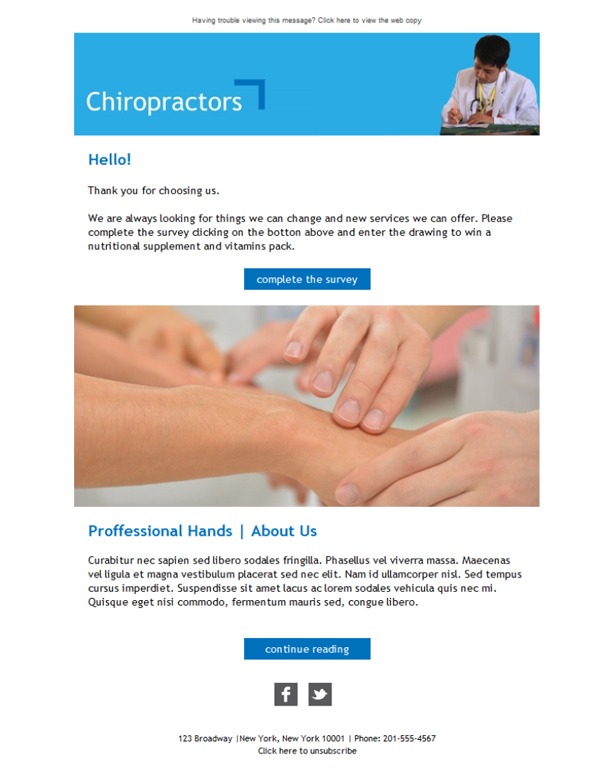 Templates Emailing Chiropractors Pro Sarbacane