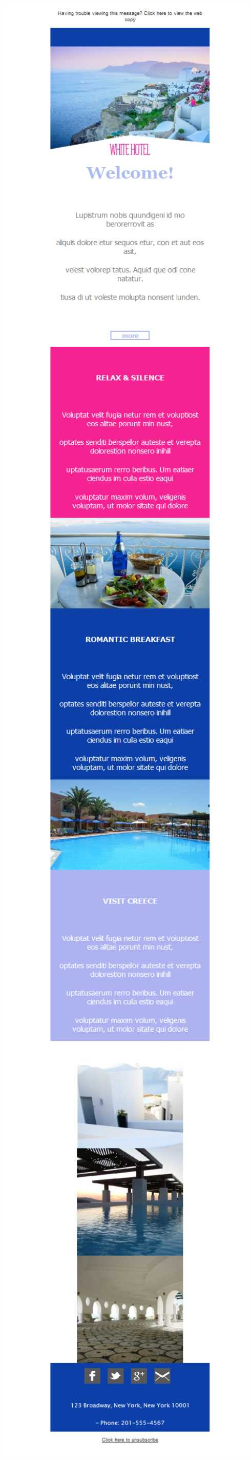 Templates Emailing Hotel Ocean View Sarbacane