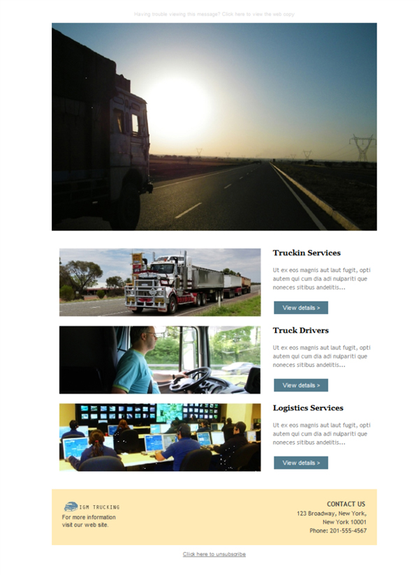 Templates Emailing Trucking Logistics Co Sarbacane