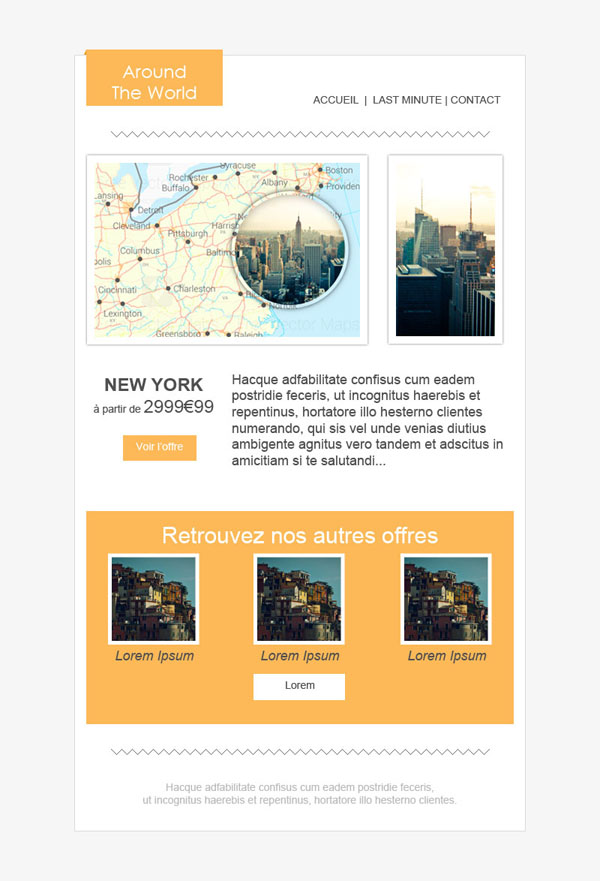 Templates Emailing Around the world Sarbacane