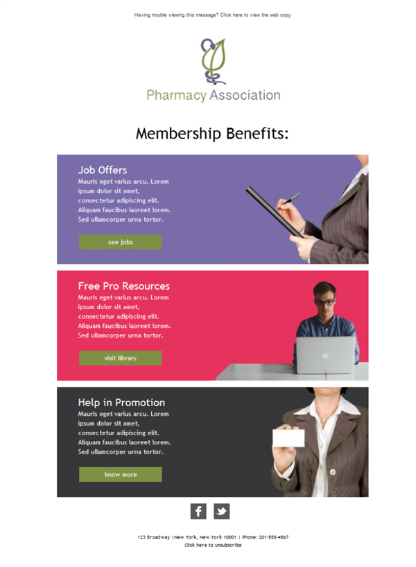 Templates Emailing Association Pharmacists Sarbacane