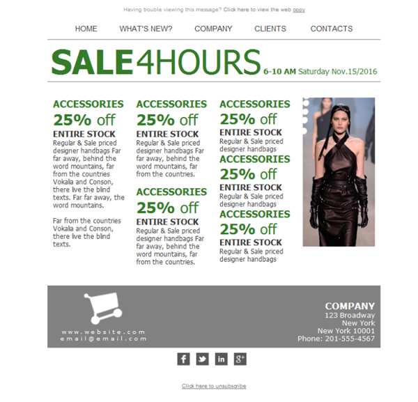 Templates Emailing Department Store Sale Sarbacane