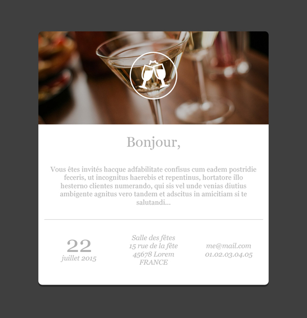 Free email templates - Download design Invitation