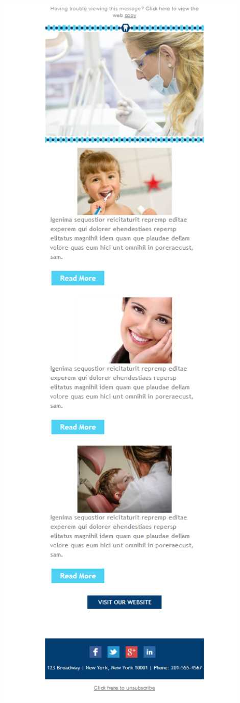 Templates Emailing Dentist Marketing Sarbacane