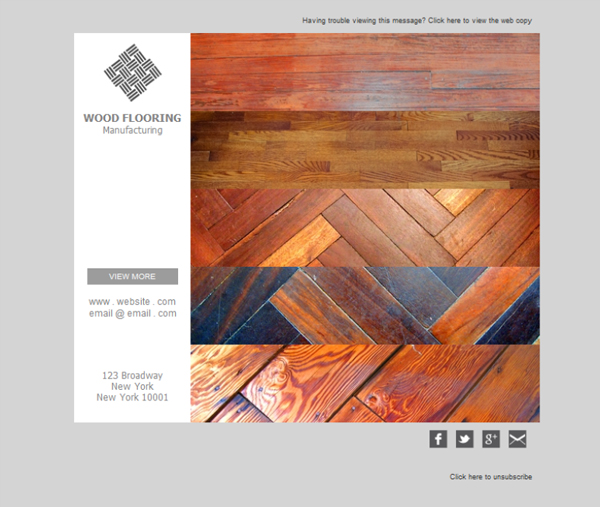 Templates Emailing Wood Flooring Service Sarbacane