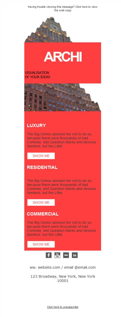 Templates Emailing Architect Luxury Building Sarbacane