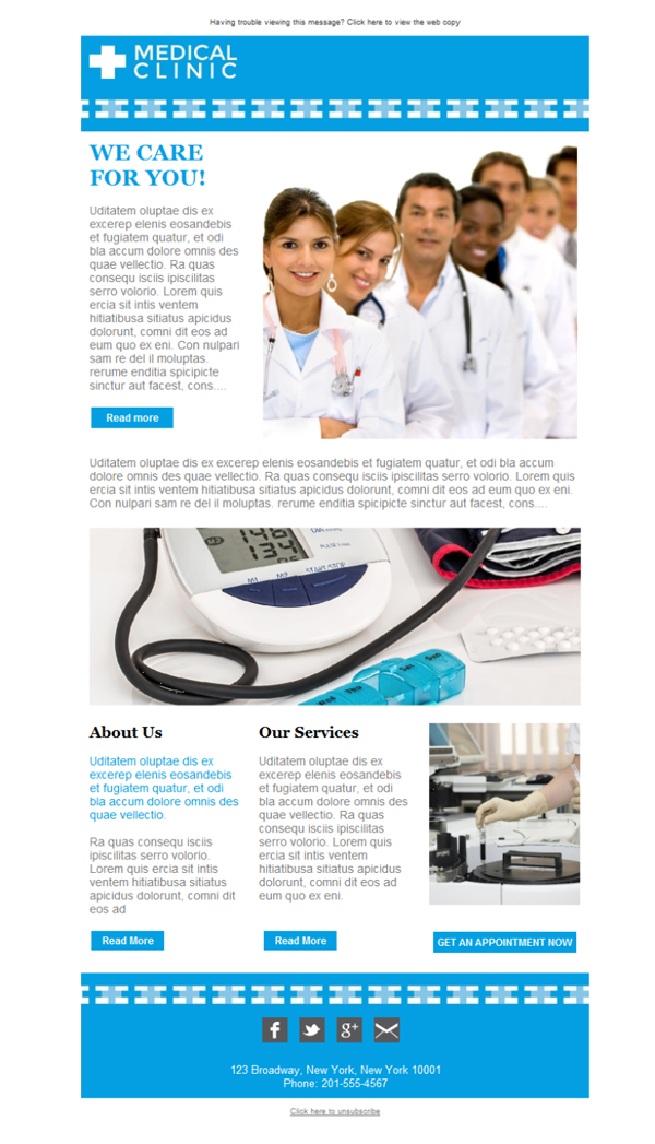 free email templates download design doctors clinic service