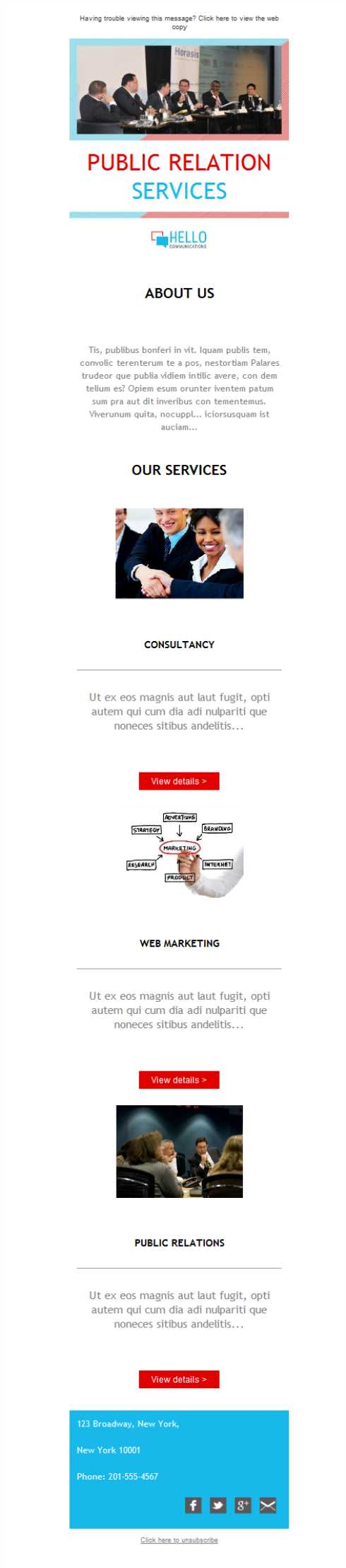 Templates Emailing PR Marketing Firm Sarbacane