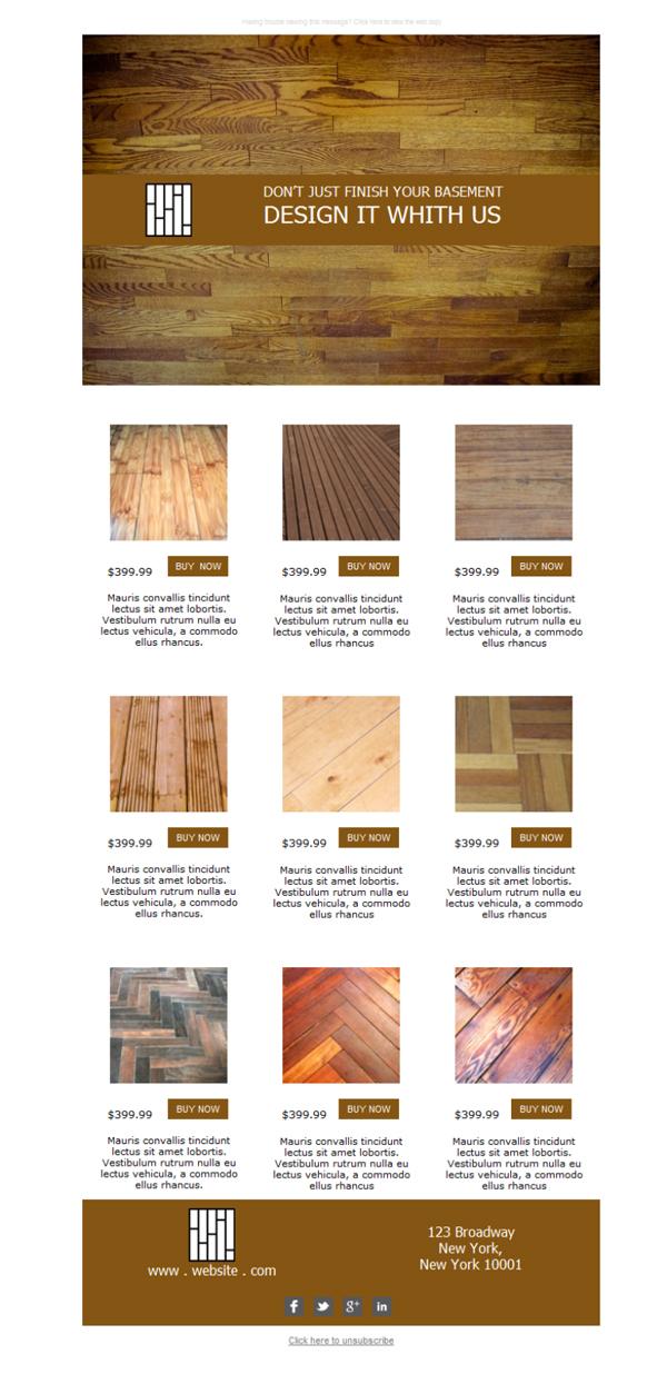 Template Emailing Gratuit Telechargez Le Modele Wood Flooring Sales