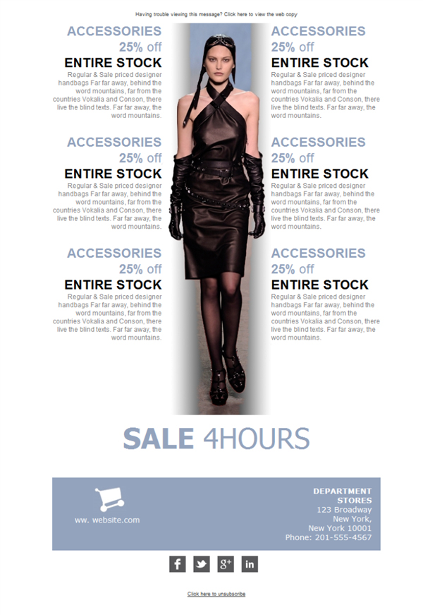 Templates Emailing Department Store Fashion Sarbacane